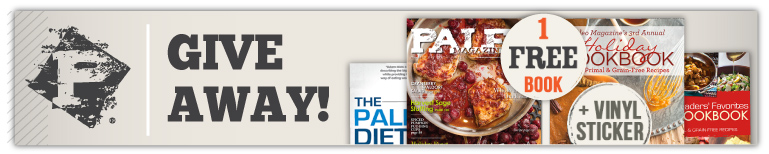 PMR Giveaway: Win one of 4 great books (your choice) plus a vinyl Paleo Magazine decal