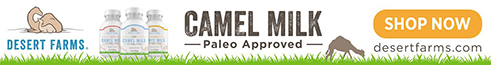 Episode Sponsor Logo: Desert Farms Camel Milk