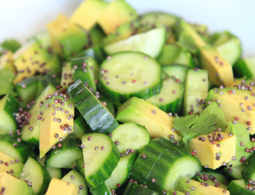 Cucumber-Avocado Salad with Mustard Seeds