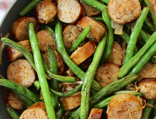 Warm Sausage & Green Bean Salad
