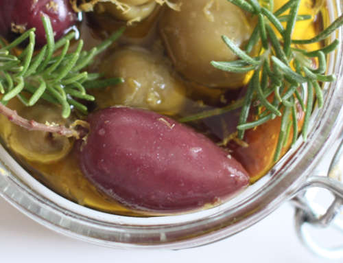 Lemon-Rosemary Marinated Olives