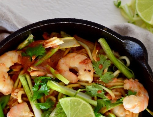 Shrimp Pad Thai with Zoodles