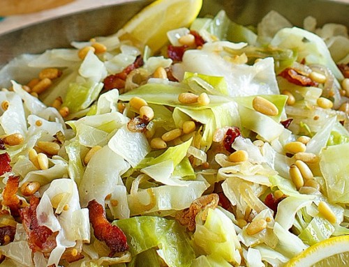 Glazed Cabbage with Shallots and Bacon