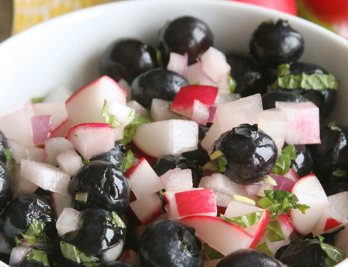 Blueberry Radish Salsa