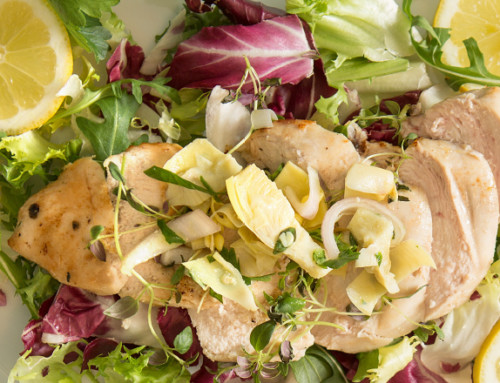 Lemon Herb Chicken with Artichoke Salsa
