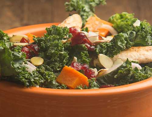 Harvest Chicken, Kale & Sweet Potato Salad