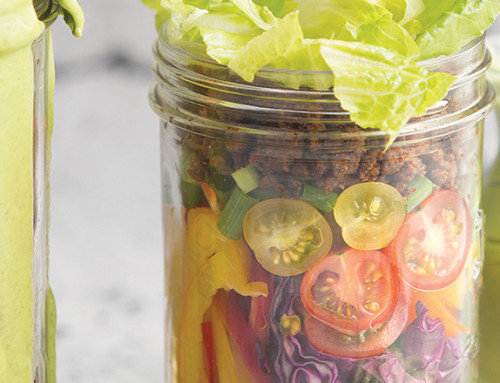 Layered Taco Salad Jars