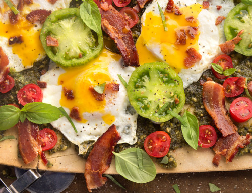 BLT Pesto Breakfast Pizza