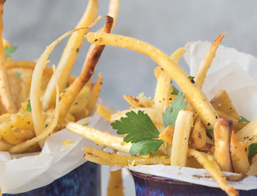 Parsnip Fries with Lemon and Garlic