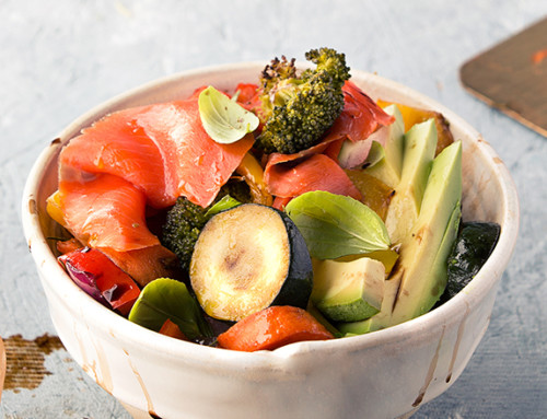 Smoked Salmon & Vegetable Bowls