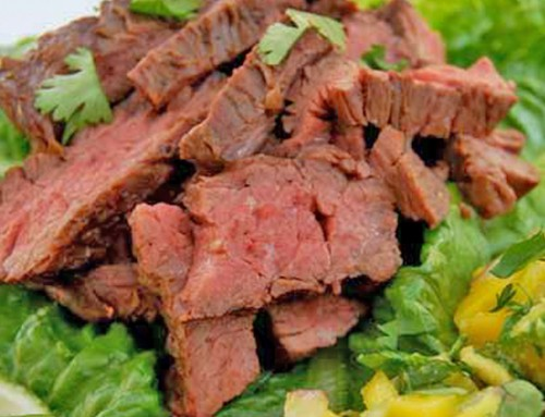 Ginger Beef with Mango Salsa