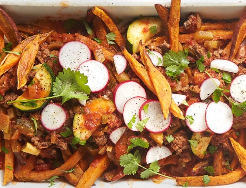 Bison-Chili Sweet-Potato Fries