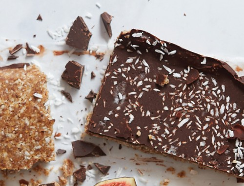 No-Bake Chocolate-Almond- Coconut-Fig Bars