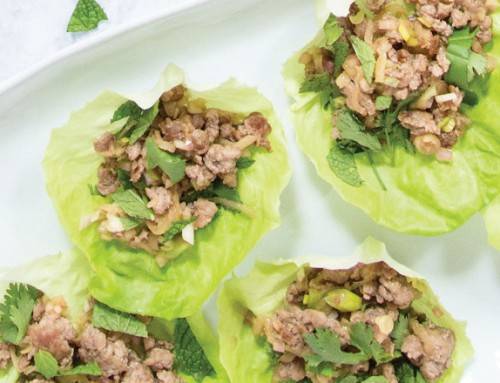 Lettuce-Wrapped Pork & Apple Larb