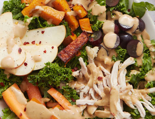 Harvest Kale, Turkey & Sweet-Potato Salad
