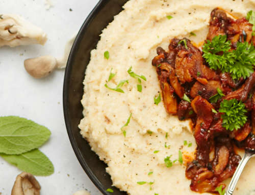 Mushroom Ragout with Cauliflower Purée
